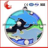 La médaille en métal de vente en gros de fournisseur d'or de Zhongshan conçoivent en fonction du client