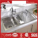 Bassin fabriqué à la main, bassin de tablier, bassin d'acier inoxydable, bassin de cuisine, premier bassin de support