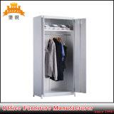 Bas-141 Salle de séjour de deux portes de meubles de rangement en acier garde-robe de vêtements avec pieds