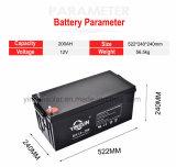De Diepe Zure Batterij van uitstekende kwaliteit van het Lood van de Cyclus 12V 200ah Zonne