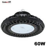 60W niedriges Bucht-Licht UFO-LED für industrielles Lager-Innenbeleuchtung-Anwendung