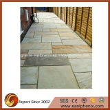 Blok/Kubus/Cobble/Kerbstone/Straatsteen van het Graniet van het Basalt de Beige/Grijze/Gouden/Groene voor Tuin/Openlucht Rustieke Tegel