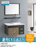 Vanità superiore di ceramica della stanza da bagno del dispersore del supporto del pavimento dell'acciaio inossidabile singola