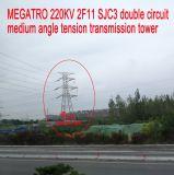 Torretta media della trasmissione di tensionamento di angolo del doppio circuito di Megatro 220kv 2f11 Sjc3