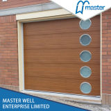 Prix sectionnels en acier/galvanisés de panneaux de portes françaises résidentielles de garage enduits par zinc