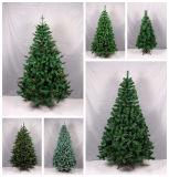 PE artificiales de lujo y PVC Mezcla de árbol de Navidad para el comercio al por mayor