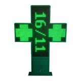 Impermeabilizzare due fabbrica trasversale verde della farmacia del segno di colore LED di dati P16 di temperatura di tempo di animazione dei lati 3D la singola