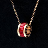 Grande Cryolite Digital Romano Red Rose Bracelete Ouro Colar