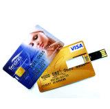 Promotion de la carte de crédit OEM Lecteur Flash USB Business Card USB Stick en plastique
