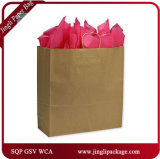 Chocolate Matte Laminated Inverted Trapezoid Euro-Shoppers Promotional Paper Bolsas de la compra