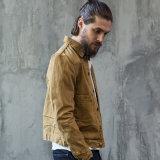 Людей отдыха втулок изготовленный на заказ классицистической краткости хлопка способа типа Америка куртка джинсыов длинних хаки