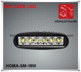 6 Arbeits-Licht LED des Zoll-18W LED weg von fahrendem Licht des Straßen-Licht-LED
