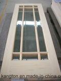 Porte en bois intérieure avec le panneau en verre (KD01A-G) (porte en bois solide)