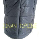 Femelle réversible PU revêtement Nylon Fake Fur Vest