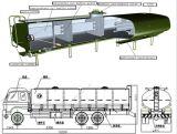 アフリカへの三車軸30-60cbm燃料のディーゼル油タンク石油タンカー