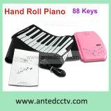 Teclado de piano flexível flexível com porta USB e 88 teclas para computador