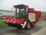 Máquina de la cosecha de maíz de 4 filas con el tanque grande del grano