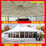 Vidrio de lujo en el lado de varios eventos de carpa de 20m de diámetro de 300 personas plazas Guest