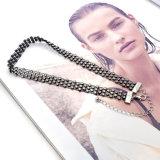 Collana nera di cristallo trasparente del Choker del collegare per le donne