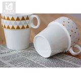 Taza amontonable 10oz de la taza del té de la impresión elegante/de café de Liling