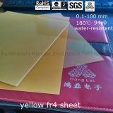 Желтый эпоксидного стекловолокна лист 3240 FR4 G10 FR5 G11