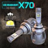 X70 60W 15600lm 9012 12V 24V自動ランプ車LEDのヘッドライトの球根の自動車ライト