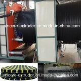 Машинное оборудование пластмассы трубы замотки стены HDPE полое
