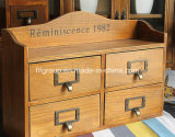 Gabinetes retro elegantes de madera respetuosos del medio ambiente en tamaño y estilo modificados para requisitos particulares