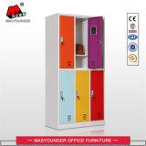 중요한 자물쇠를 가진 사무실 사용 공장 직매 6 문 다채로운 로커