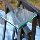 6mm/8mm/10mm/12mm sur plat tempérée/douche lourde porte en verre trempé avec fentes de découpes de meulage encoches