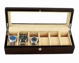 Коробка подарка хранения индикации вахты отделки Brown Matt Rosewood деревянная