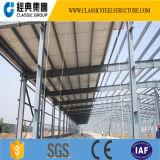 Almacén de la estructura de acero de Prebuilt del material para techos del panel de emparedado