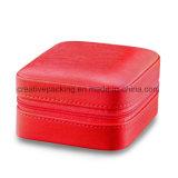 Contenitore di monili di cuoio rosso di stile di modo