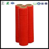 Película de estiramento vermelha da película do envoltório do estiramento do molde 20mic LLDPE