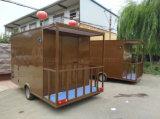 Prix fiable, chariot mobile de la distribution de nourriture de chariots d'hamburgers en vente