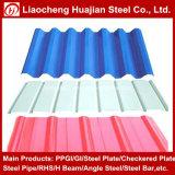 Hoja de acero galvanizada acanalada prepintada sumergida caliente en China