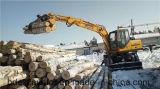 Fácil Operación Bd95 Excavadora De Ruedas Catching Wood Machine