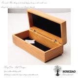 Rectángulo de empaquetado de madera de encargo de la pajarita de Hongdao con el trazador de líneas Wholesale_D