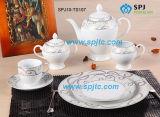 22PC Juego de café té porcelana Royal