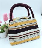 Sac à lunch à rayures toile Handbag Handbag sac momie Mode d'impression