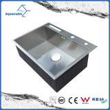 Single-Bowl elegante cozinha feitos à mão o dissipador de aço (ACS6850S)
