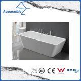 浴室の白く支えがないアクリルの浴槽(AB1552W)