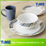 16PC 20PC Porcelain Dinner Set, Easy Simple Design Dinnerware Set (616043)