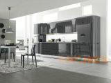 Le modèle moderne noir personnalisent le Module de cuisine de laque