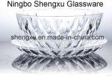 Kom & Plaat sx-011 van het Glas van het Kristal van de Diamant van 100% No-Lead Transparante