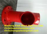 高品質の消火活動の鋼管は溝および糸の付属品によって溶接した