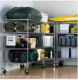 NSF Chrome Metro Commercial Storage Rack met Wheels (CJ9045180A4CW)