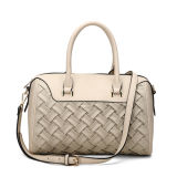 Fake Woven Front Leisure Lady Duffel Tote Bag (MBNO040021)