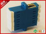 LC UPC Optische Adapter van de Vezel van de Vierling Singlemode Plastic