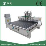 기복을 할 수 있는 6개의 스핀들 CNC 목공 기계